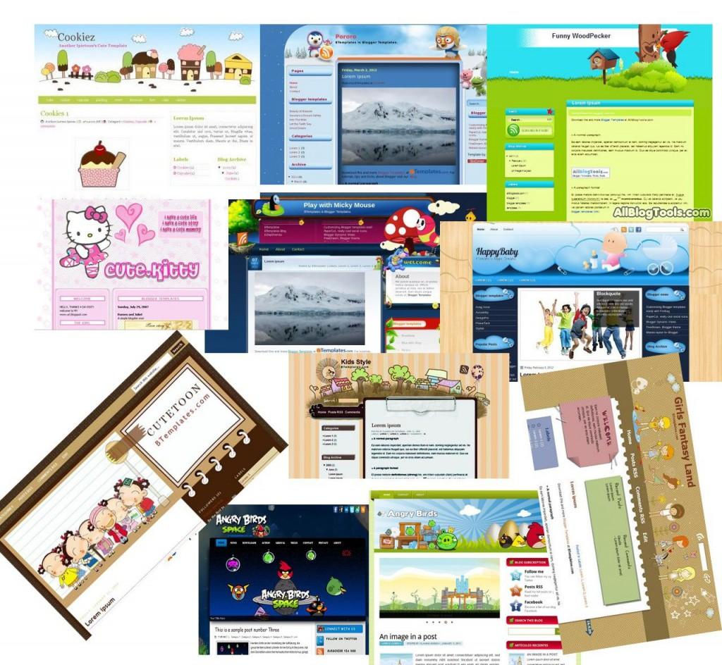 008 Beautiful Free Cute Blogger Template Idea  TemplatesLarge