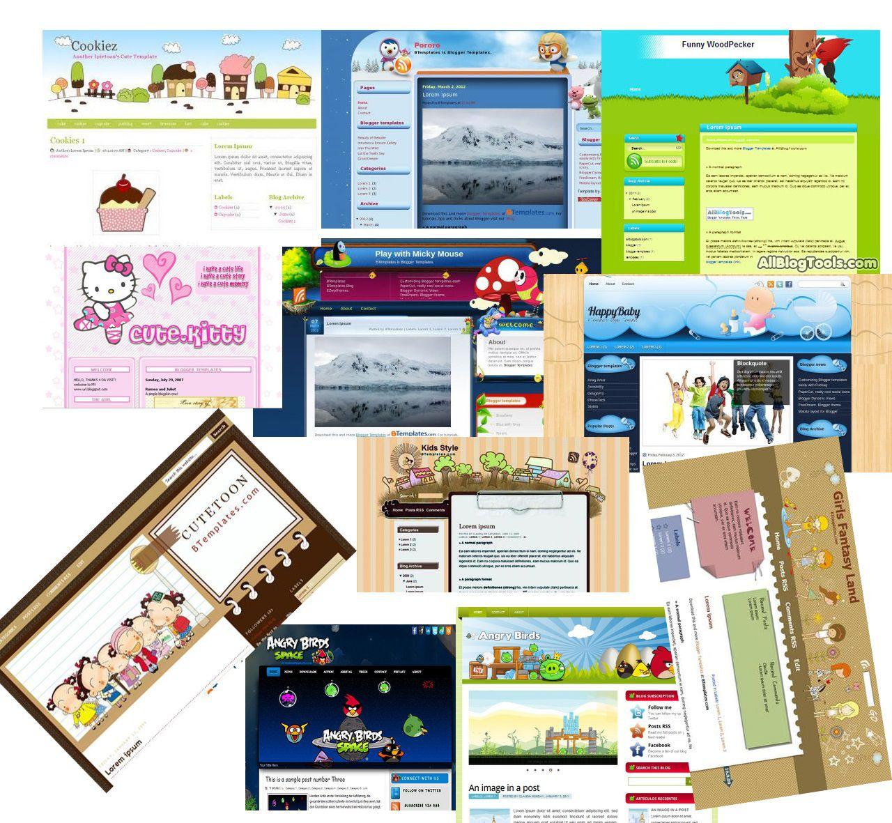 008 Beautiful Free Cute Blogger Template Idea  TemplatesFull