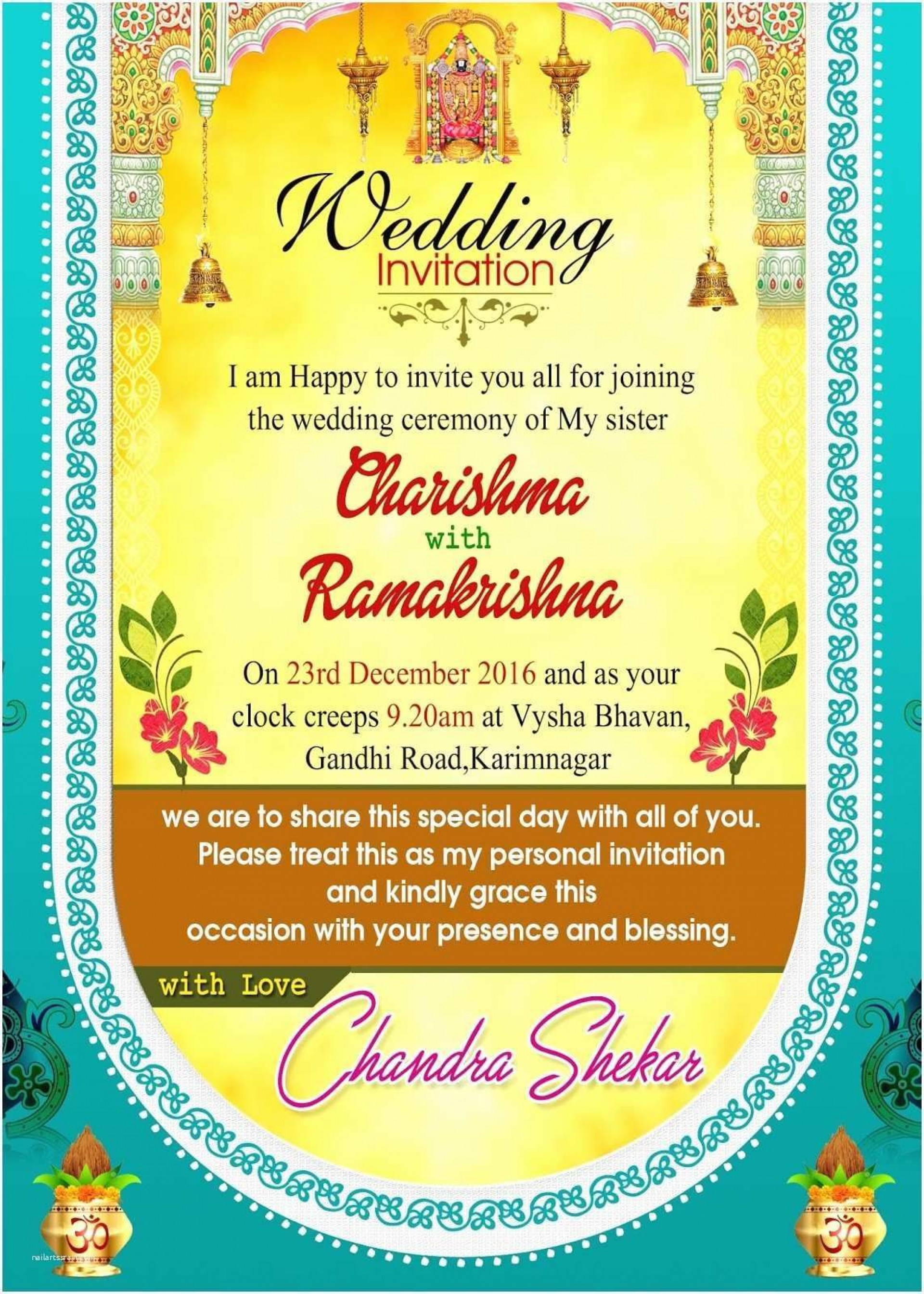 008 Beautiful Free Download Wedding Invitation Maker Software Design  Hindu Video Card For Pc1920