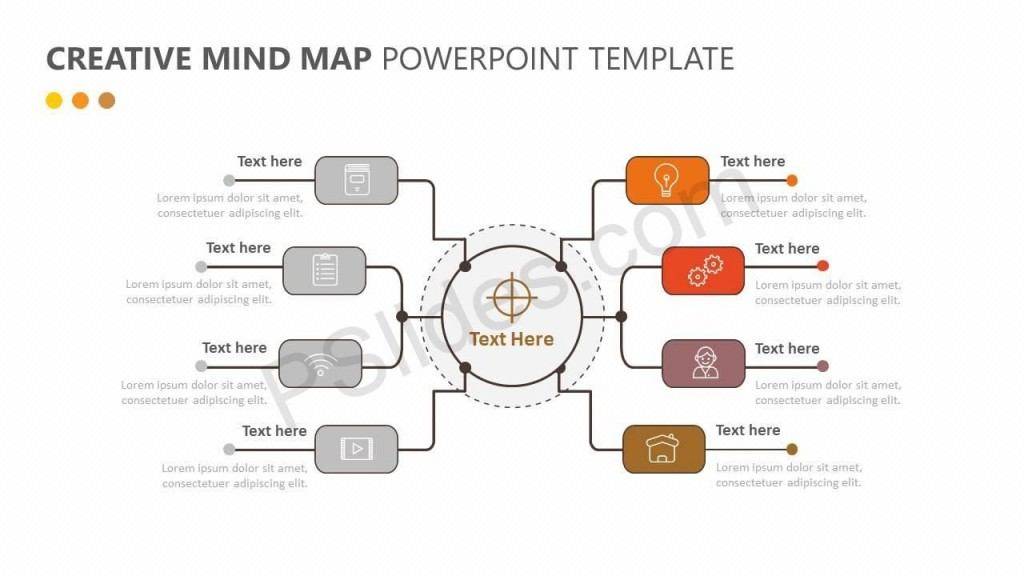 008 Beautiful Free Editable Mind Map Template Design  Word PowerpointLarge