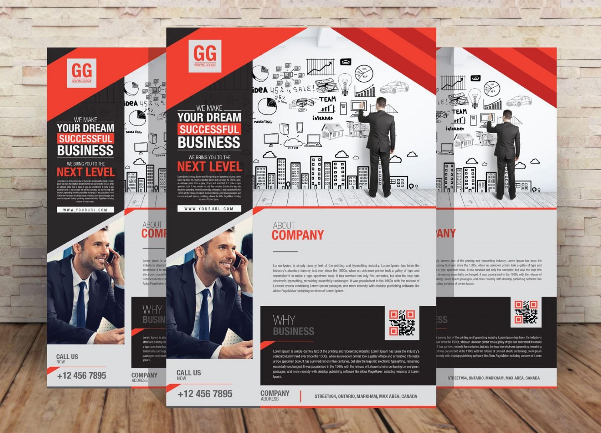 008 Beautiful Free Flyer Design Template Idea  Templates Online Download Psd1920