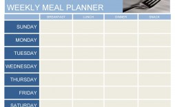 008 Beautiful Free Meal Planner Template Word High Definition  Editable Weekly Monthly