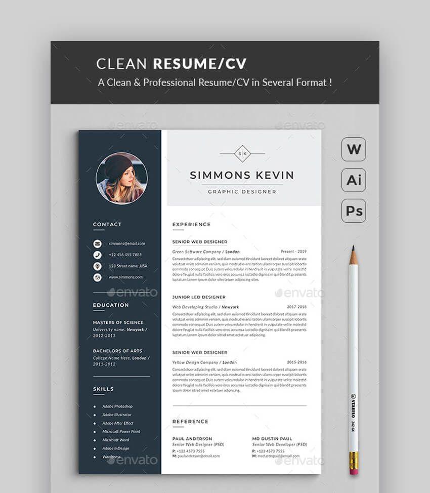 008 Beautiful Free Stylish Resume Template Idea  Templates Word DownloadFull