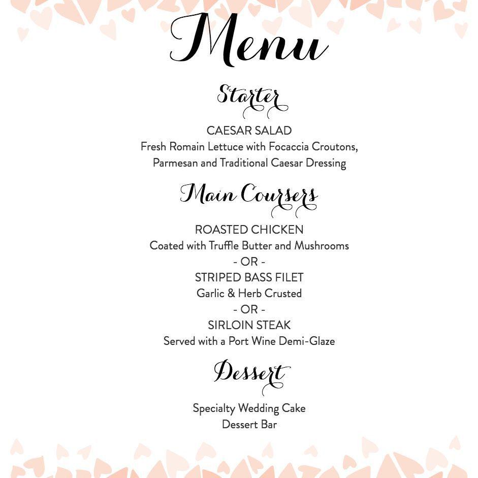 008 Beautiful Free Wedding Menu Template Design  Templates Printable For MacFull