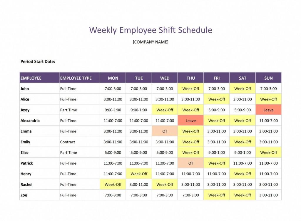 008 Beautiful Google Doc Employee Schedule Template Example  Weekly WorkLarge
