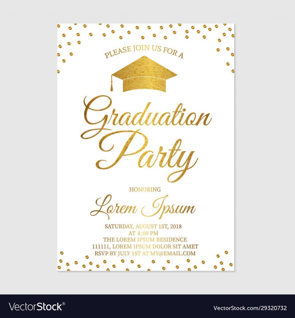 008 Beautiful Graduation Party Invitation Template Image  Microsoft Word 4 Per PageLarge
