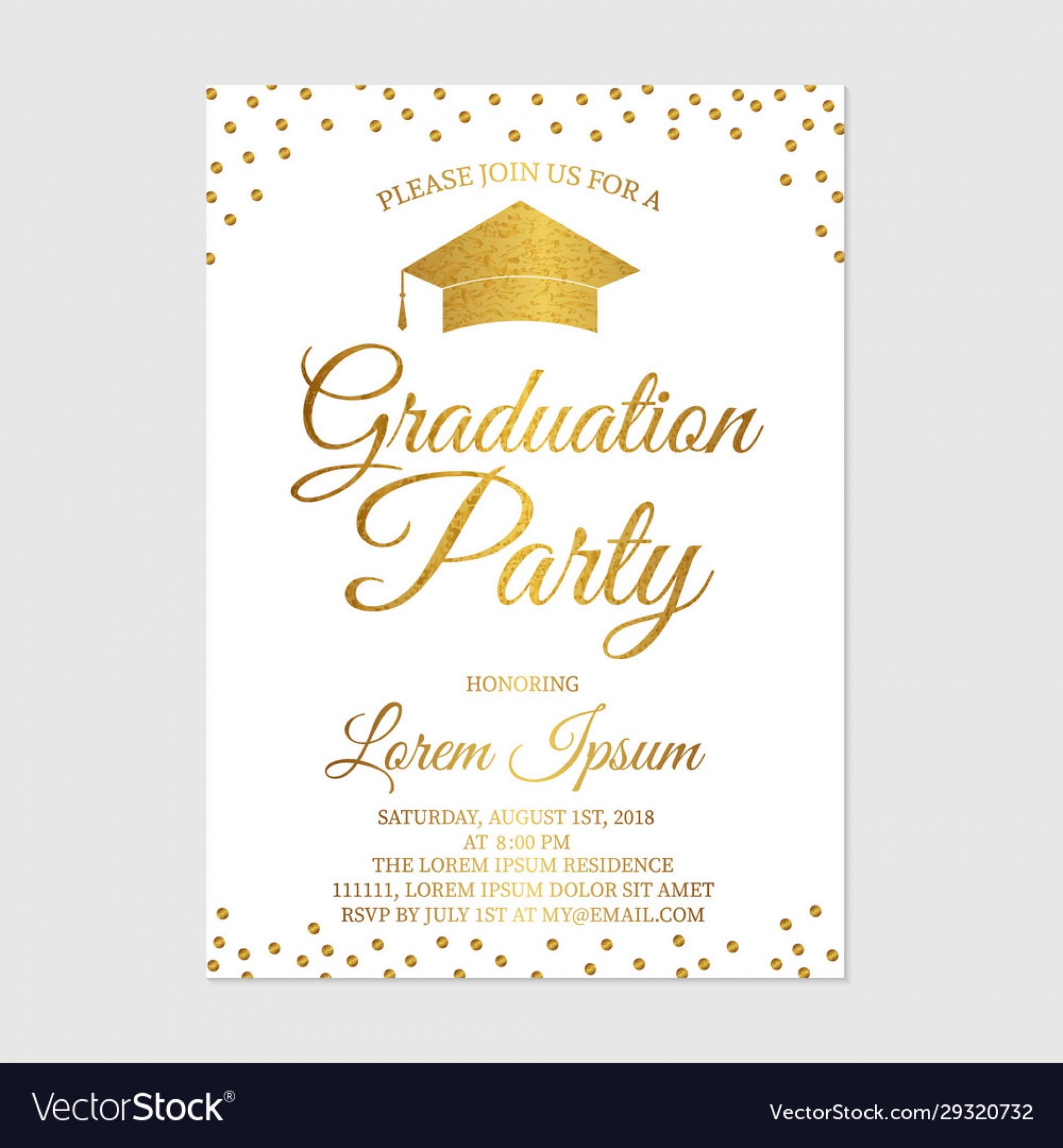 008 Beautiful Graduation Party Invitation Template Image  Microsoft Word 4 Per Page1920