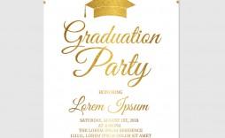 008 Beautiful Graduation Party Invitation Template Image  Microsoft Word 4 Per Page