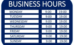 008 Beautiful Hour Of Operation Template Photo  Restaurant Email