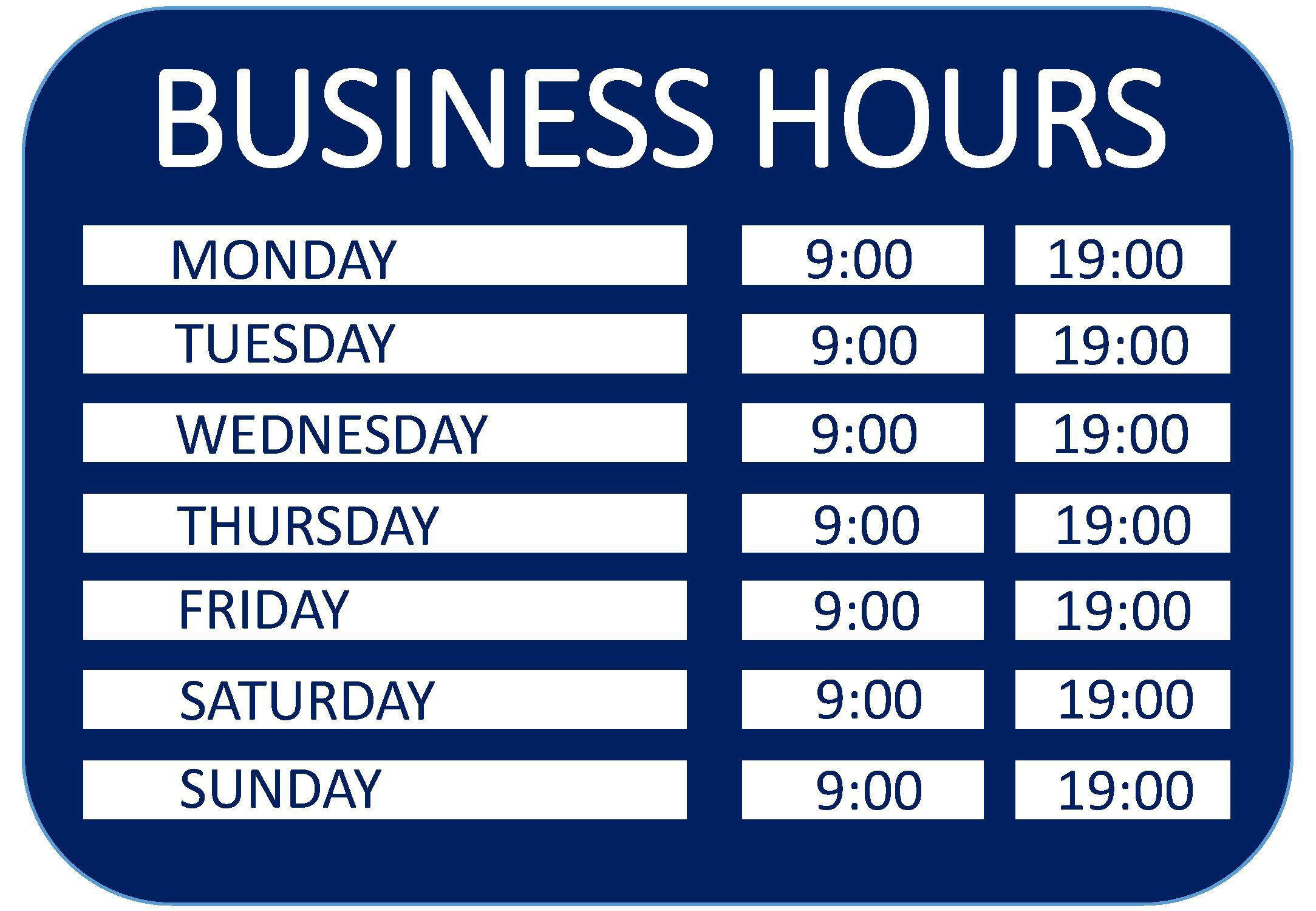 008 Beautiful Hour Of Operation Template Photo  Restaurant EmailFull
