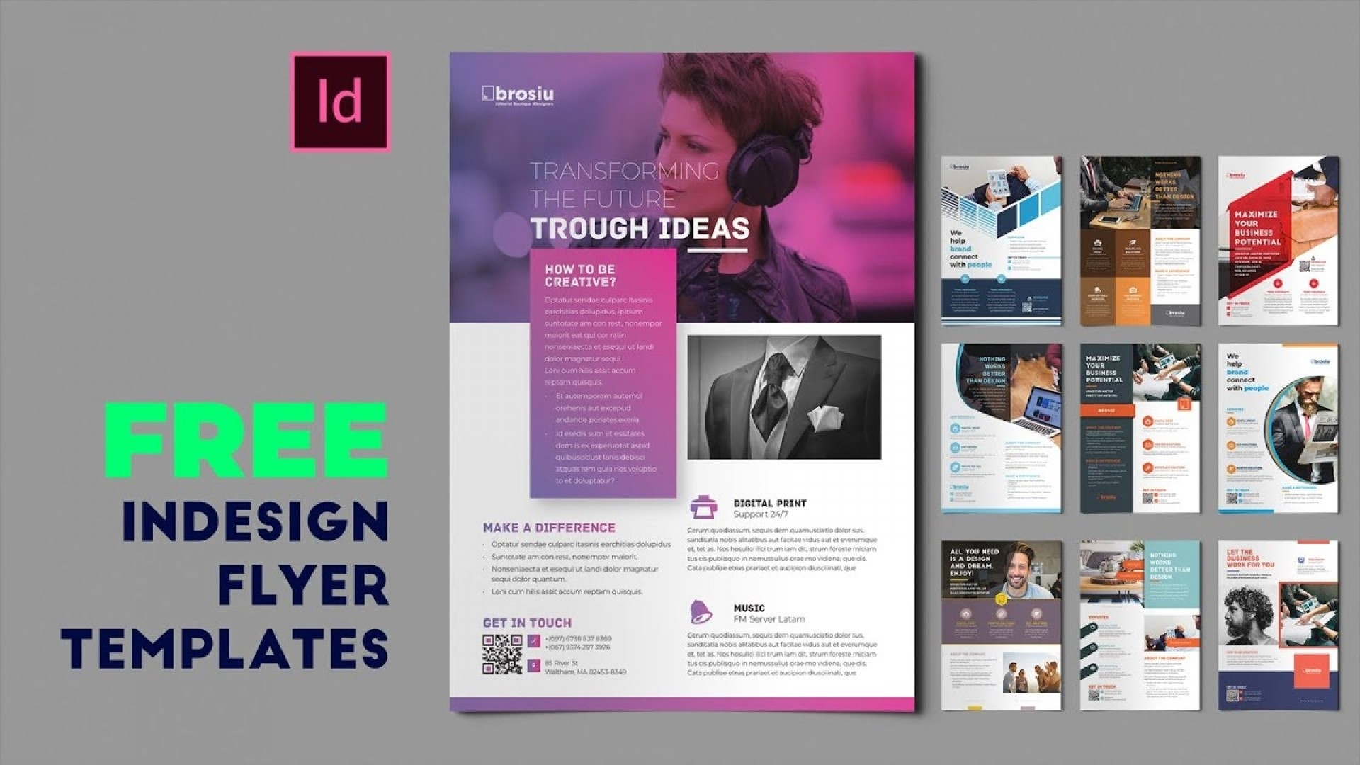 008 Beautiful In Design Flyer Template Picture  Indesign Free Adobe Download1920