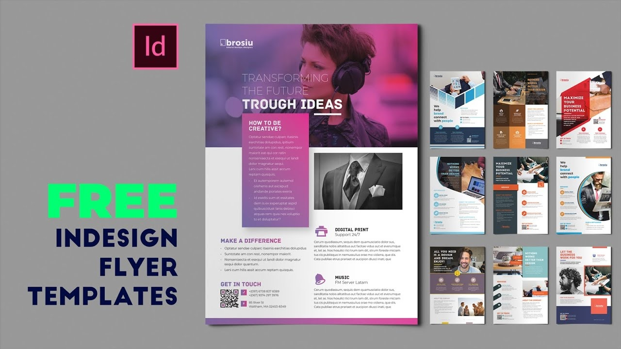 008 Beautiful In Design Flyer Template Picture  Indesign Free Adobe DownloadFull