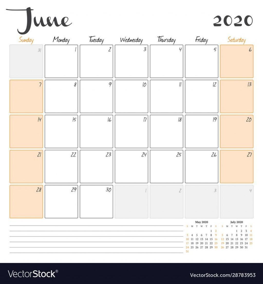 008 Beautiful June 2020 Monthly Calendar Template Inspiration Large