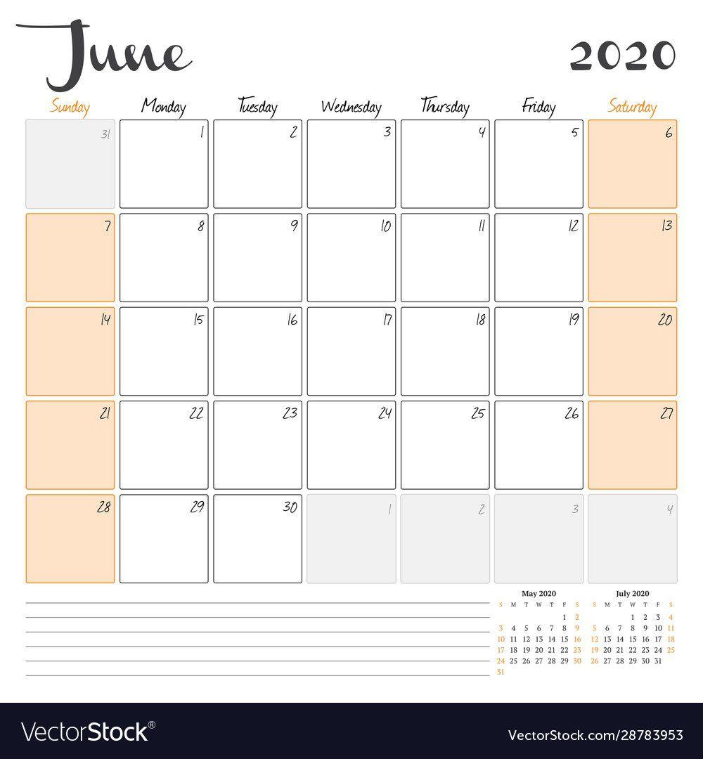 008 Beautiful June 2020 Monthly Calendar Template Inspiration Full