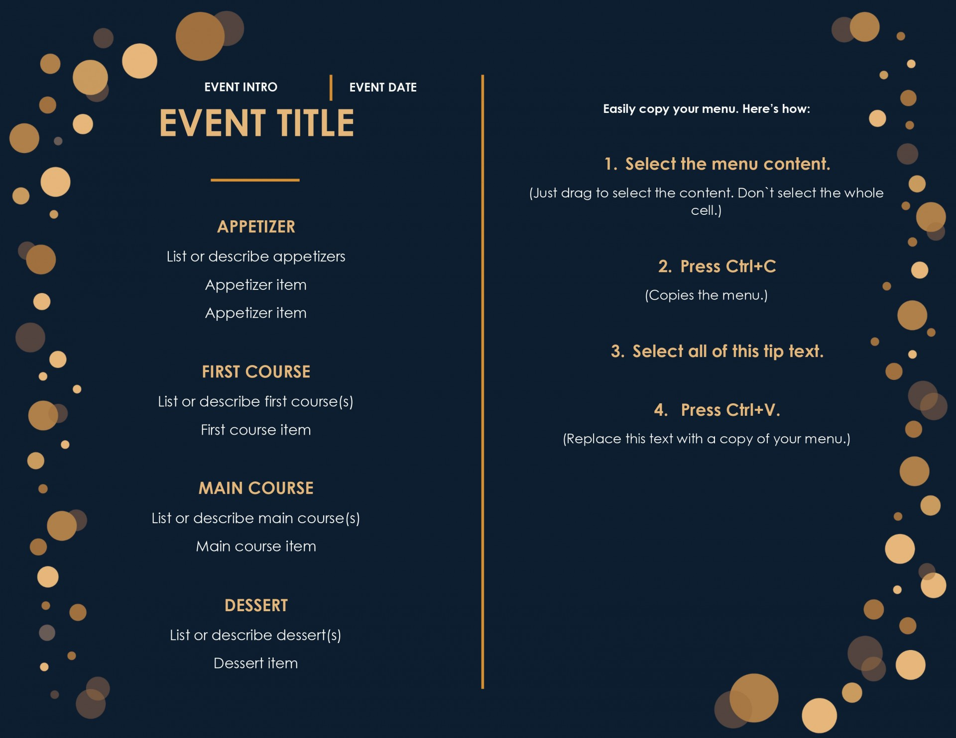 008 Beautiful Menu Template Free Download Word Idea  Dinner Party Wedding1920