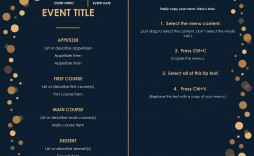 008 Beautiful Menu Template Free Download Word Idea  Dinner Party Wedding