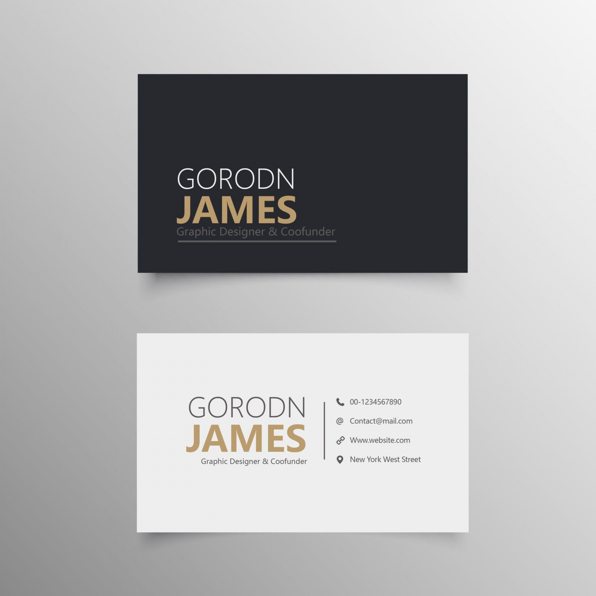 008 Beautiful Personal Busines Card Template Concept  Trainer Design Psd Fitnes1920