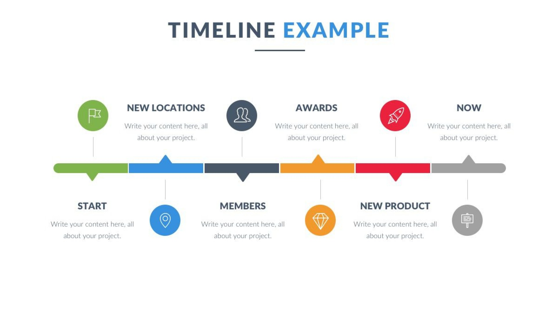 008 Beautiful Powerpoint Timeline Template Free Download Highest Clarity  Project History1920
