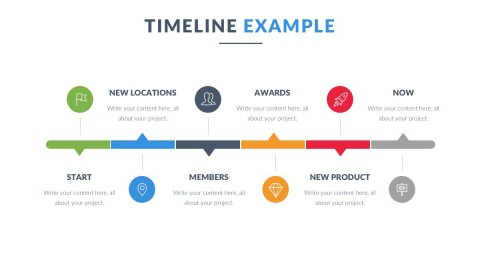 008 Beautiful Powerpoint Timeline Template Free Download Highest Clarity  History480