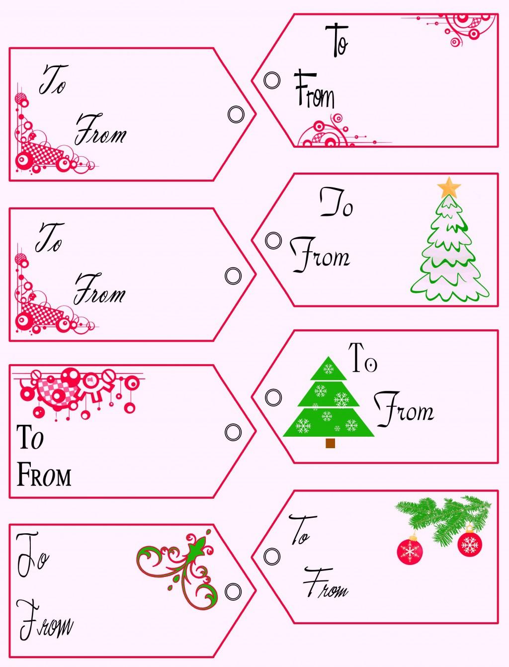 008 Beautiful Printable Christma Gift Tag Template Inspiration  Templates Free Holiday For WordLarge