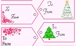 008 Beautiful Printable Christma Gift Tag Template Inspiration  Templates Free Holiday For Word