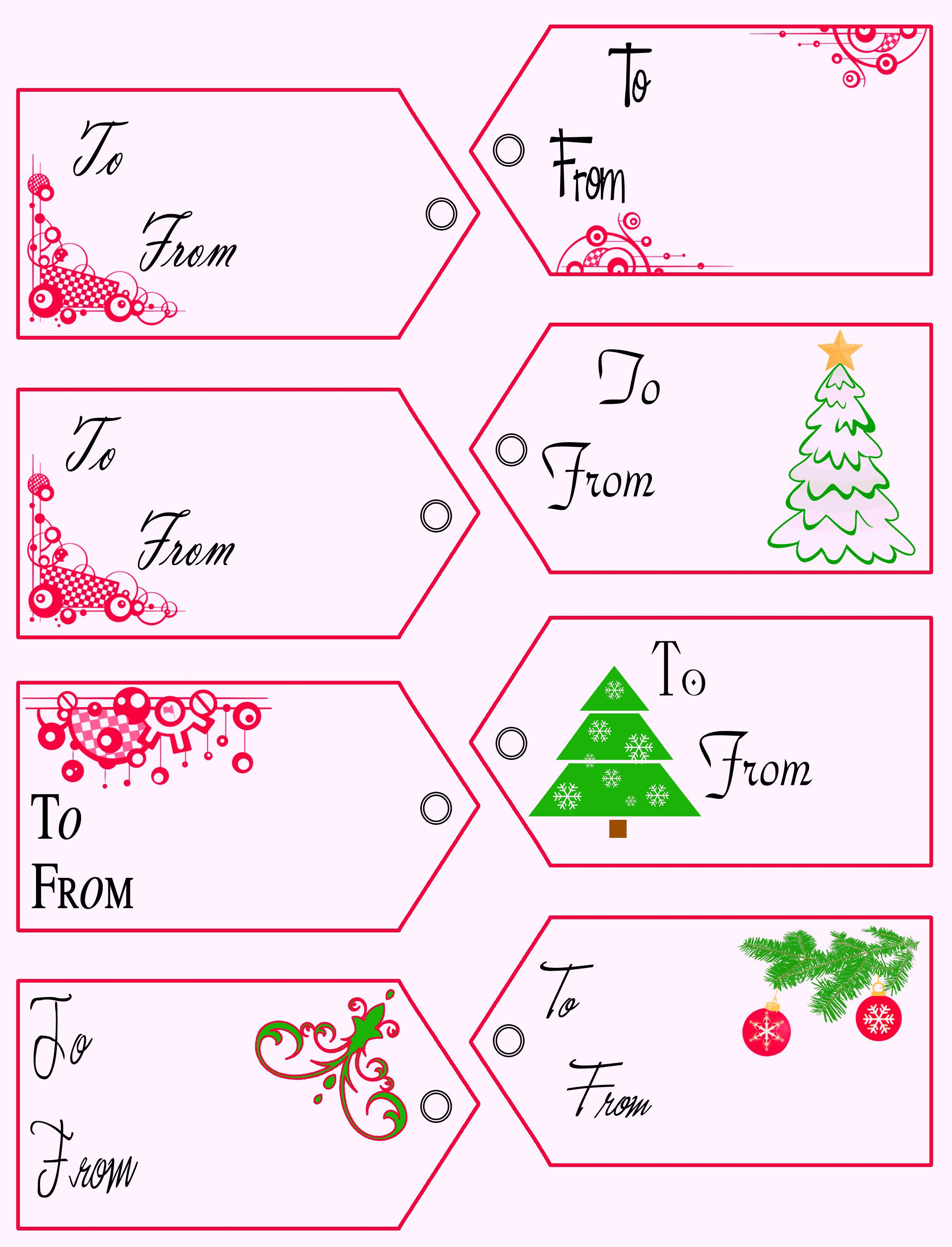 008 Beautiful Printable Christma Gift Tag Template Inspiration  Templates Free Holiday For WordFull