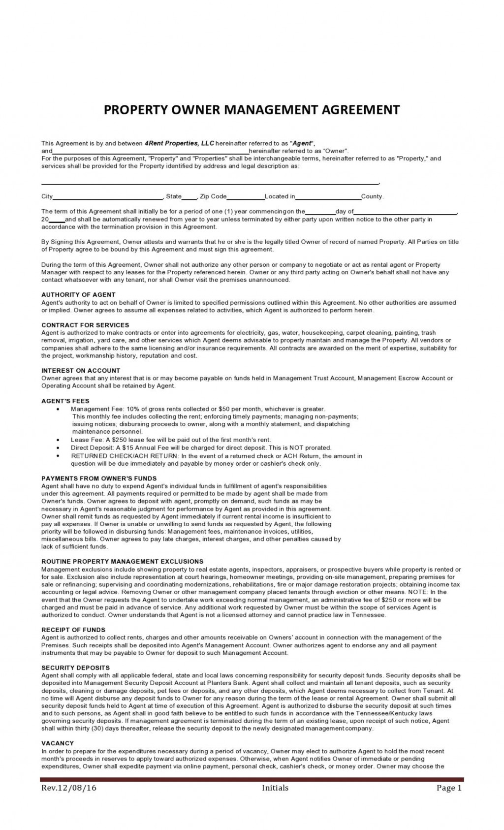 008 Beautiful Property Management Contract Template Uk Design  Free Agreement CommercialLarge