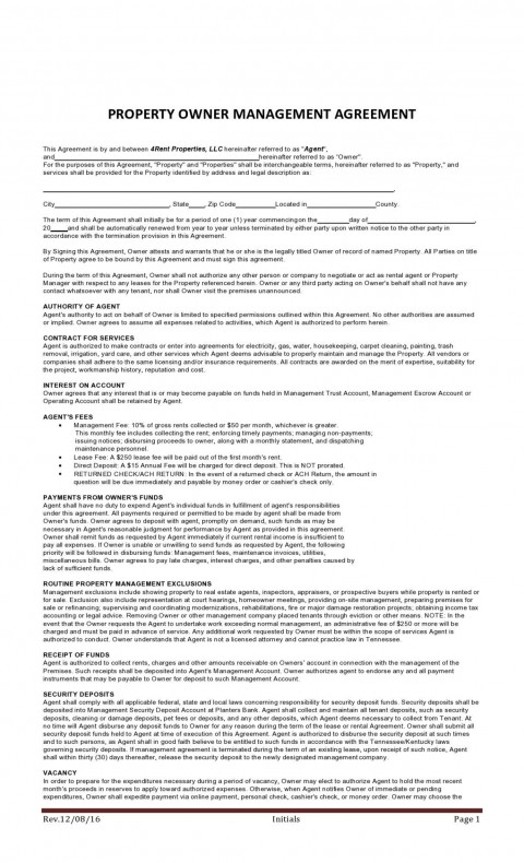 008 Beautiful Property Management Contract Template Uk Design  Free Agreement Commercial480