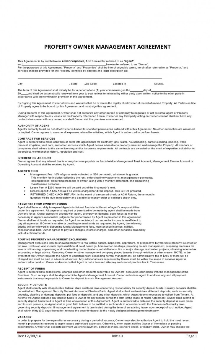 008 Beautiful Property Management Contract Template Uk Design  Free Agreement Commercial728