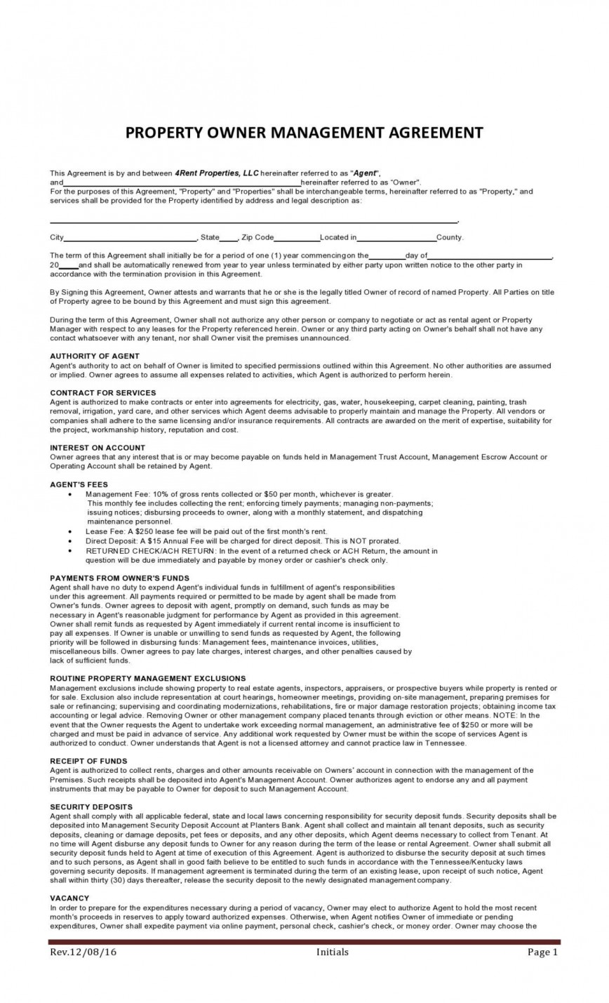 008 Beautiful Property Management Contract Template Uk Design  Free Agreement Commercial868