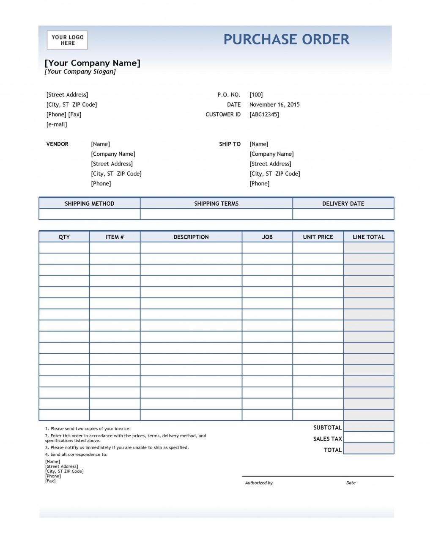 008 Beautiful Purchase Order Template Free Idea  Log M Acces BlanketLarge