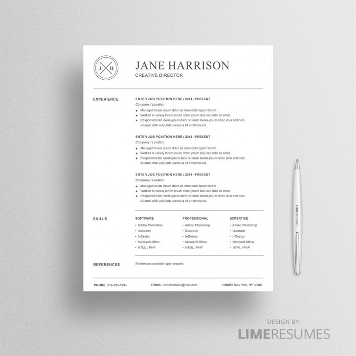 008 Beautiful Resume Reference List Template Microsoft Word High Resolution 728