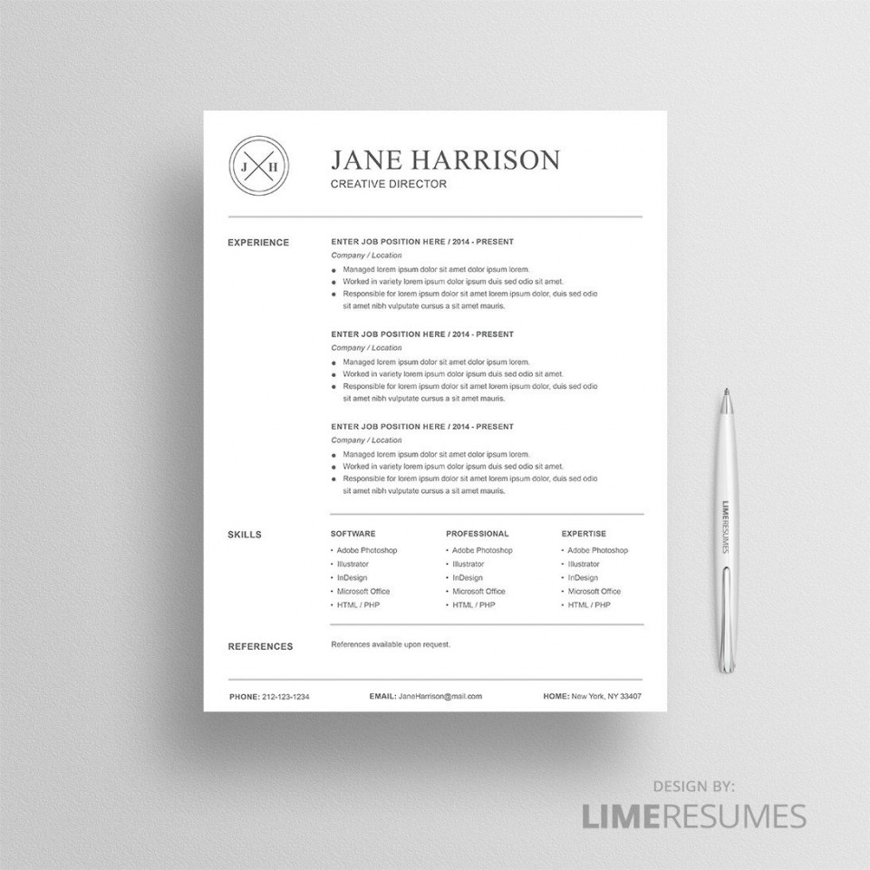 008 Beautiful Resume Reference List Template Microsoft Word High Resolution 960