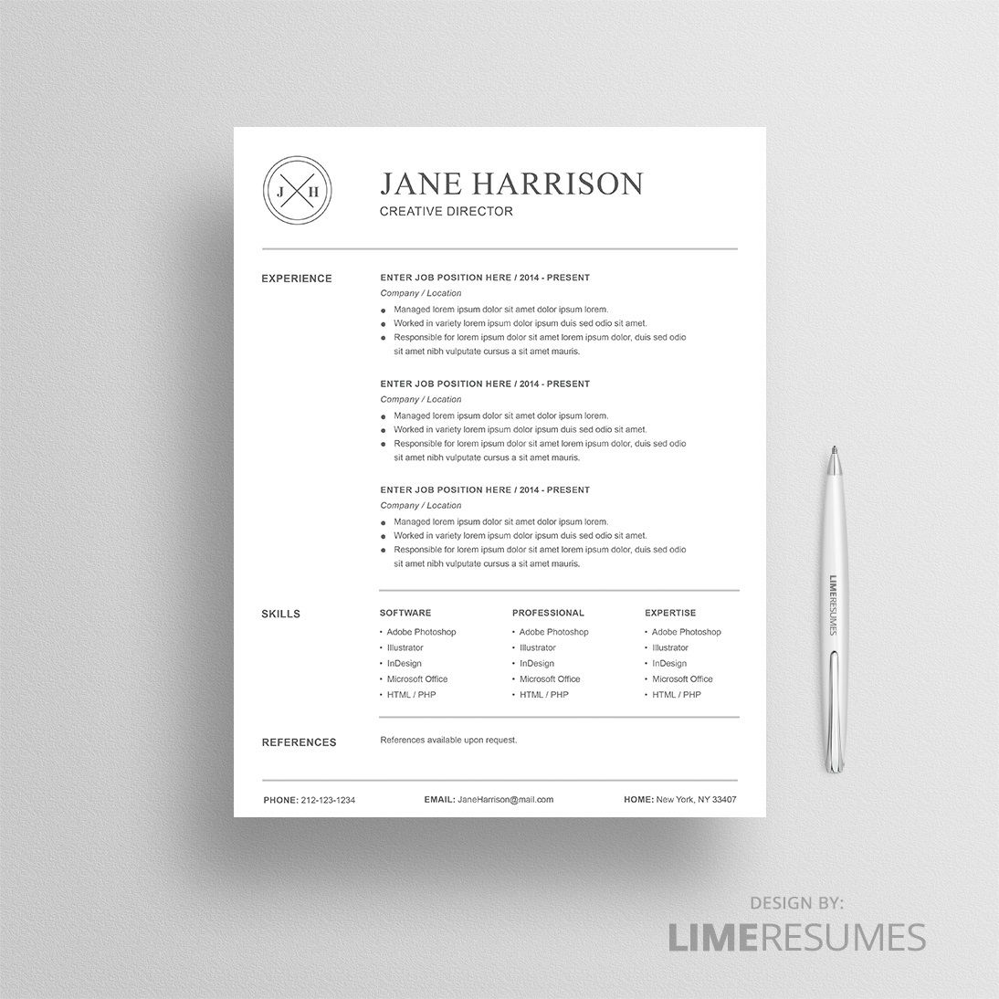 008 Beautiful Resume Reference List Template Microsoft Word High Resolution Full