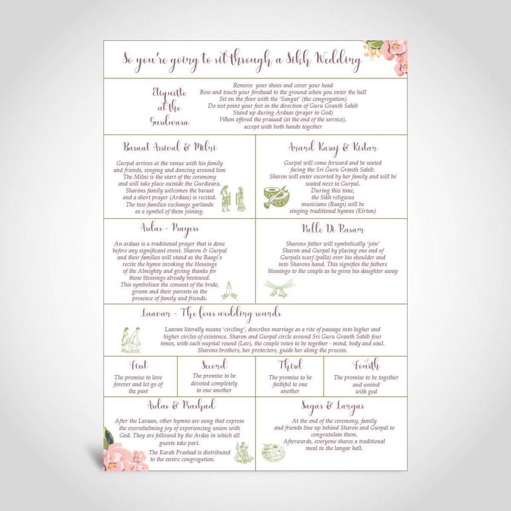 008 Beautiful Traditional Wedding Order Of Service Template Uk High Resolution Large