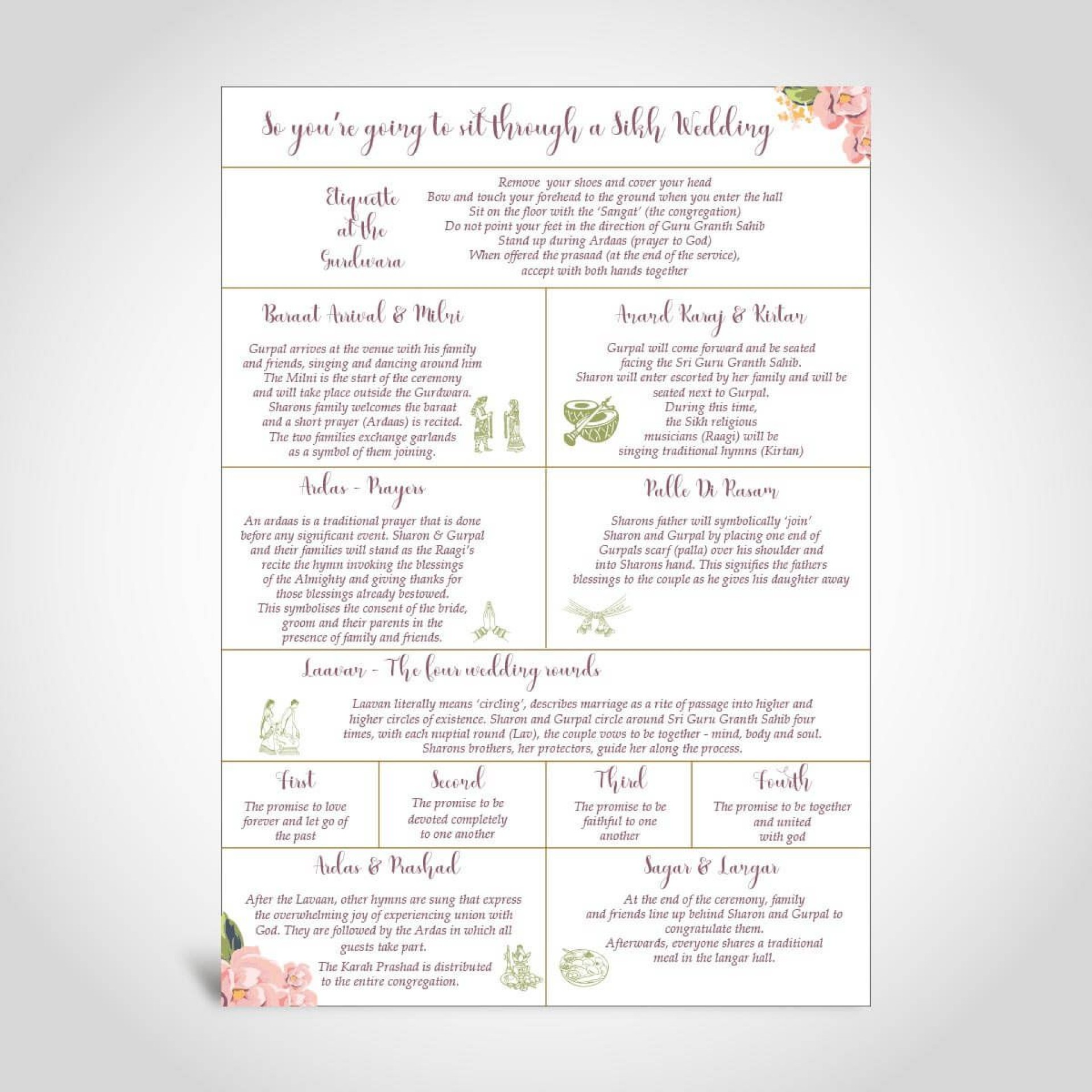 008 Beautiful Traditional Wedding Order Of Service Template Uk High Resolution 1920