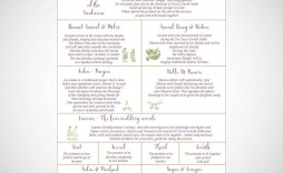 008 Beautiful Traditional Wedding Order Of Service Template Uk High Resolution