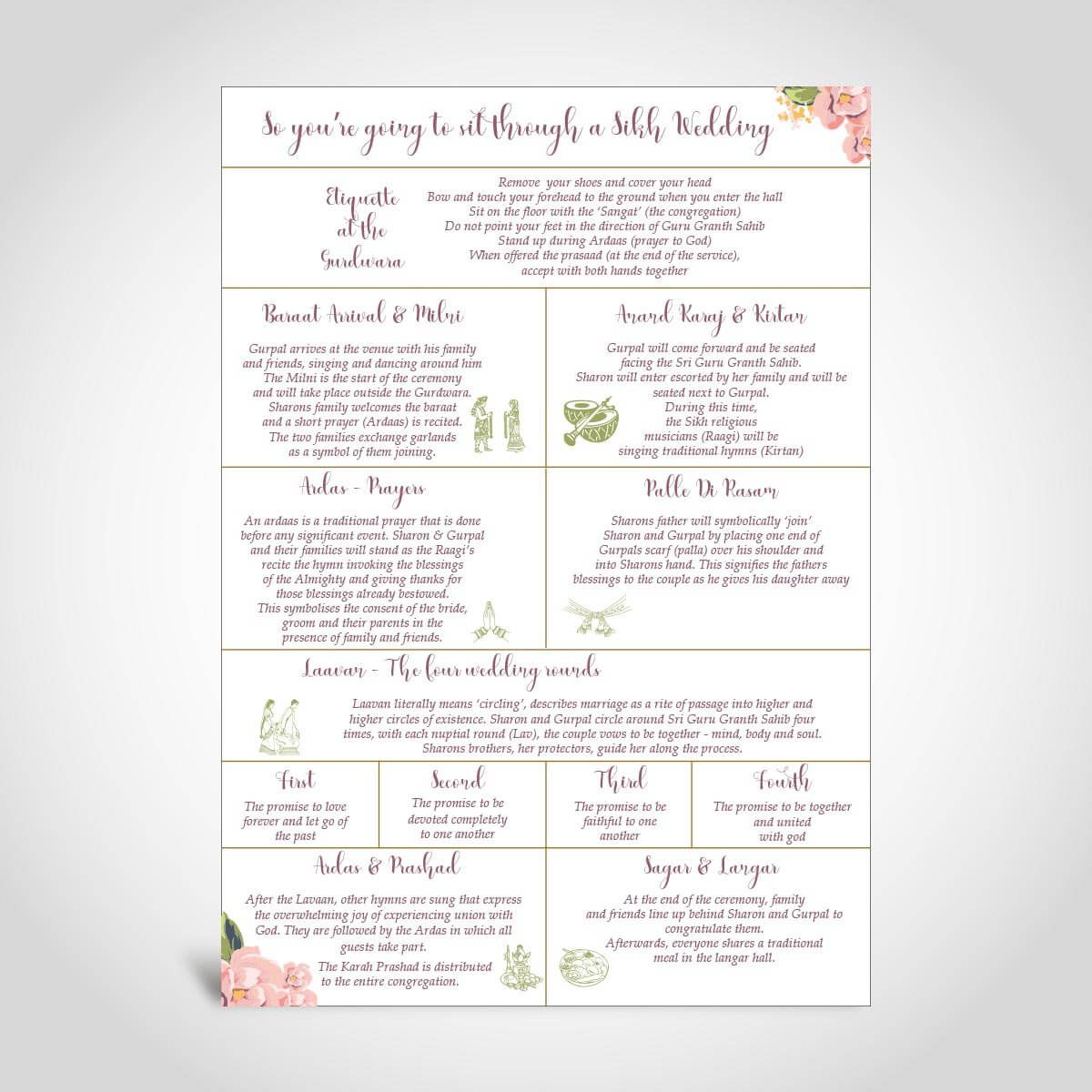 008 Beautiful Traditional Wedding Order Of Service Template Uk High Resolution Full