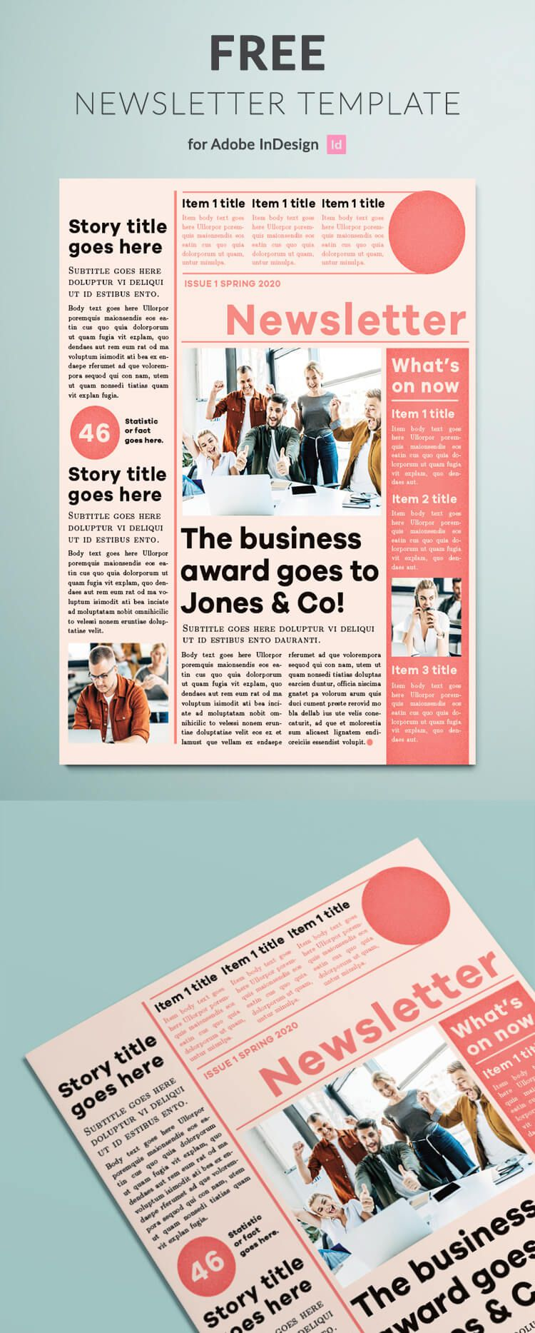 008 Best Adobe Indesign Newsletter Template Free Download Concept Full