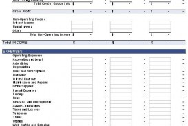 008 Best Basic Profit And Los Template Photo  Free Simple Form Statement Excel For Self Employed