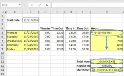 008 Best Excel Timesheet Template With Formula Highest Clarity  Formulas Biweekly Daily