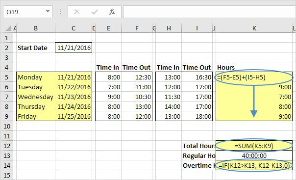 008 Best Excel Timesheet Template With Formula Highest Clarity  Formulas Biweekly DailyFull