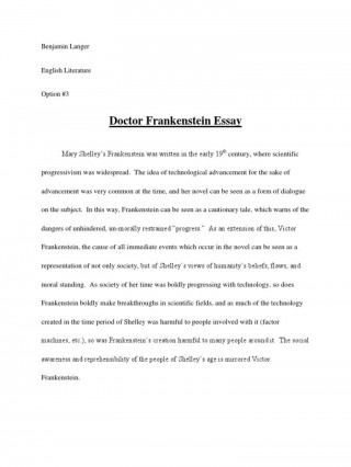008 Best Frankenstein Essay Highest Clarity  Critical Pdf Question Who I The Real Monster320
