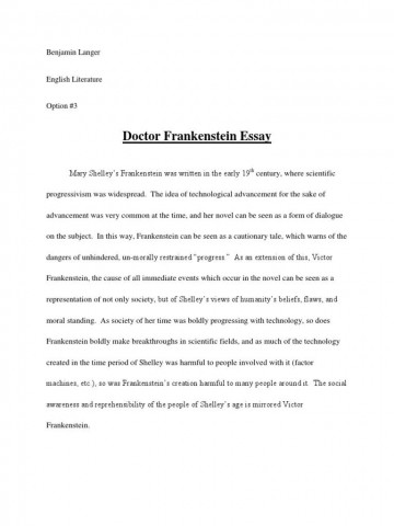 008 Best Frankenstein Essay Highest Clarity  Critical Pdf Question Who I The Real Monster360