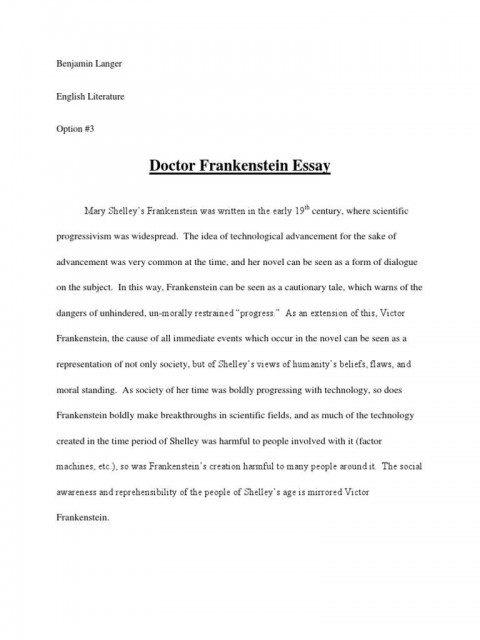 008 Best Frankenstein Essay Highest Clarity  Critical Pdf Question Who I The Real Monster480