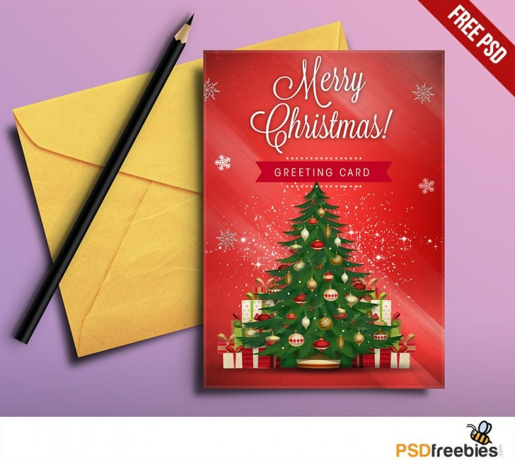 008 Best Free Download Holiday Card Template Idea 728