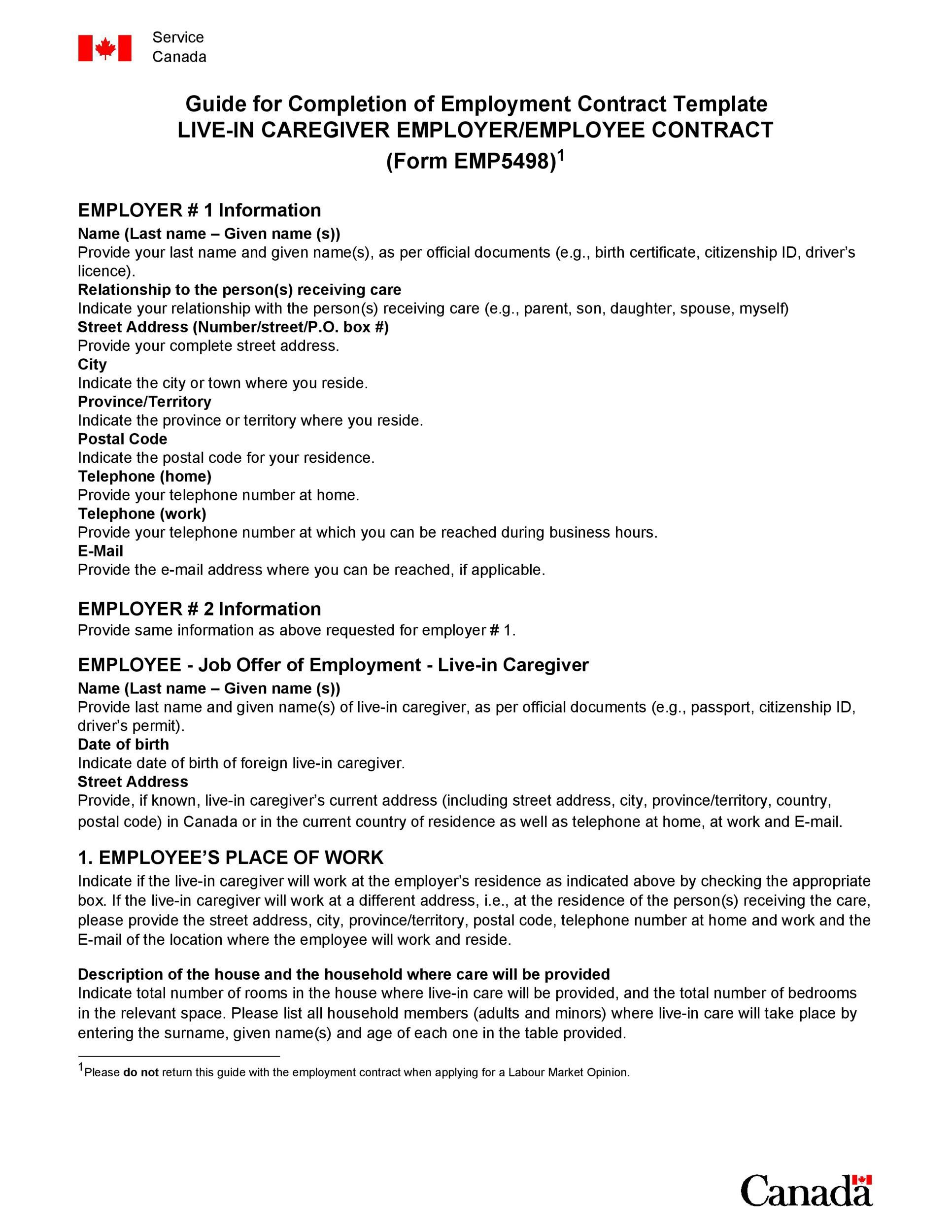 008 Best Free Employment Contract Template Highest Quality  Templates Bc Temporary South Africa IrelandFull