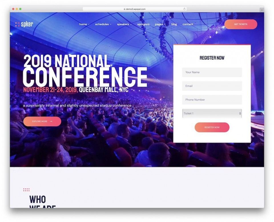 008 Best Free Event Planner Website Template High Def  Download Bootstrap960