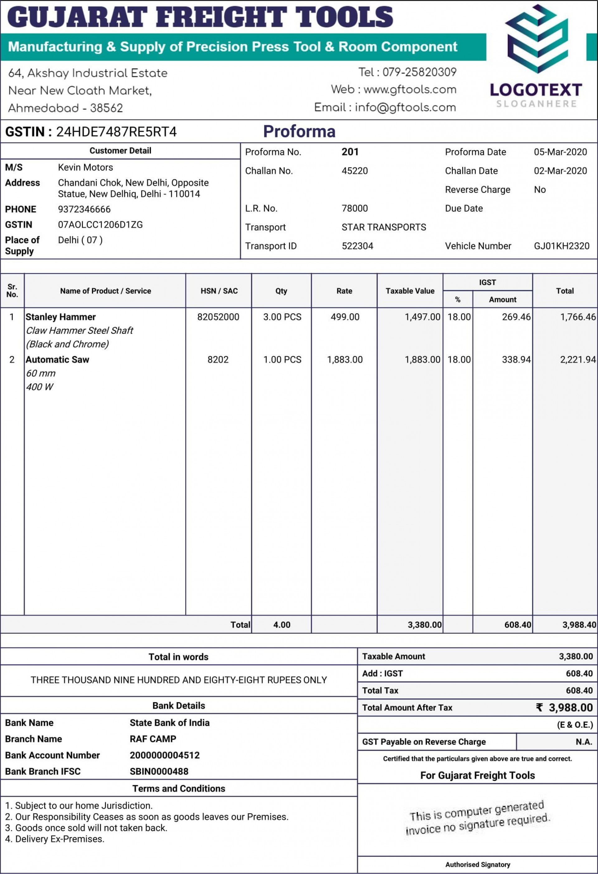 008 Best Free Excel Invoice Template Gst India Image 1920