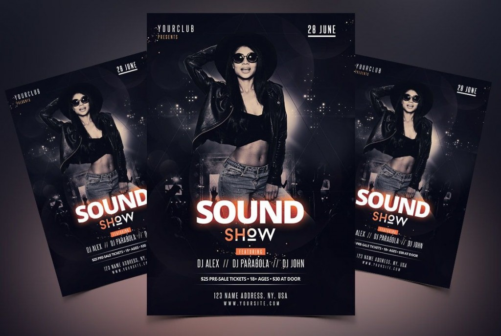 008 Best Free Psd Party Flyer Template Download Highest Clarity  - Neon Glow RaveLarge